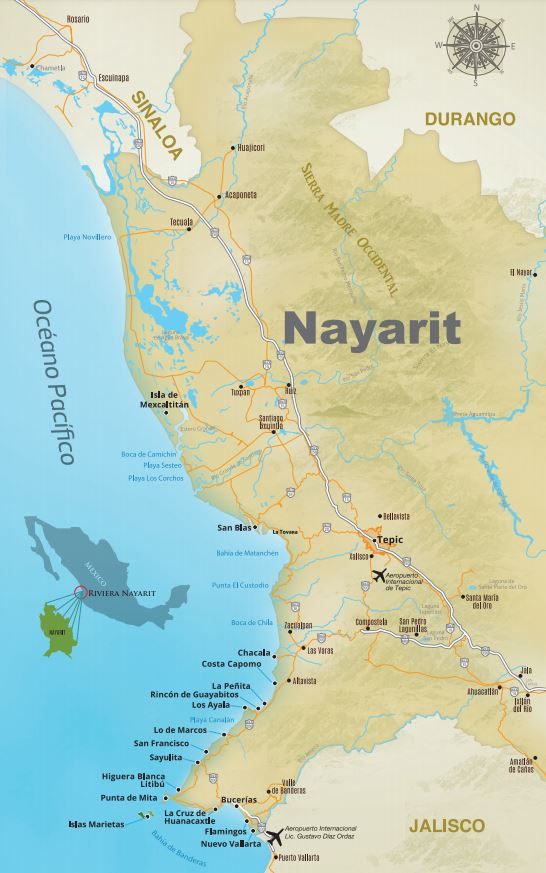 Riviera Nayarit Map